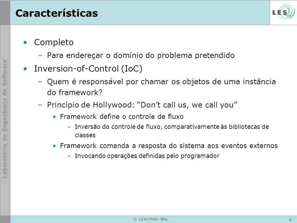 Características Completo Inversion-of-Control (IoC)