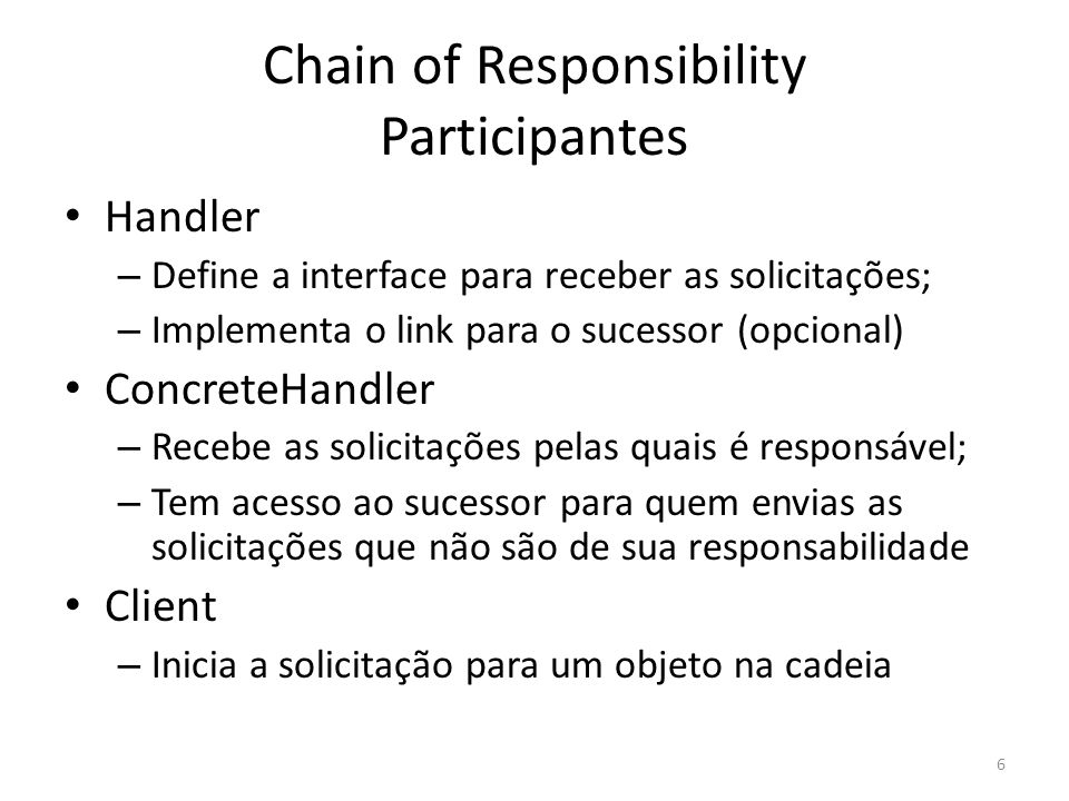 Chain of Responsibility Participantes