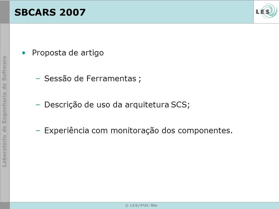 SBCARS 2007 Proposta de artigo Sessão de Ferramentas ;