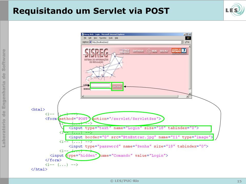 Requisitando um Servlet via POST