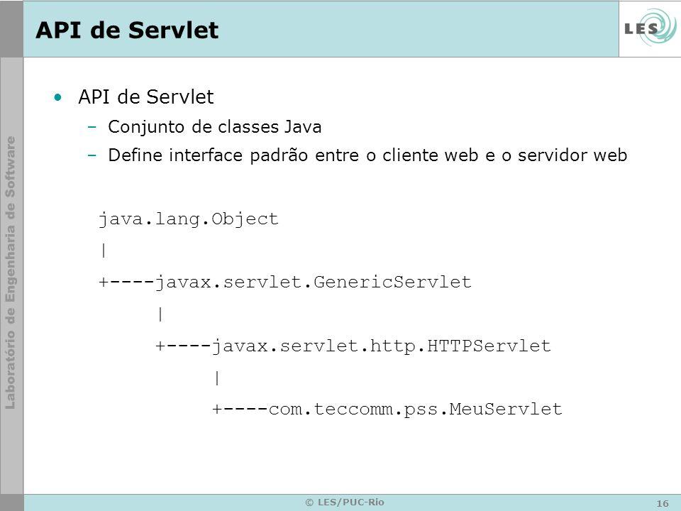API de Servlet API de Servlet java.lang.Object |
