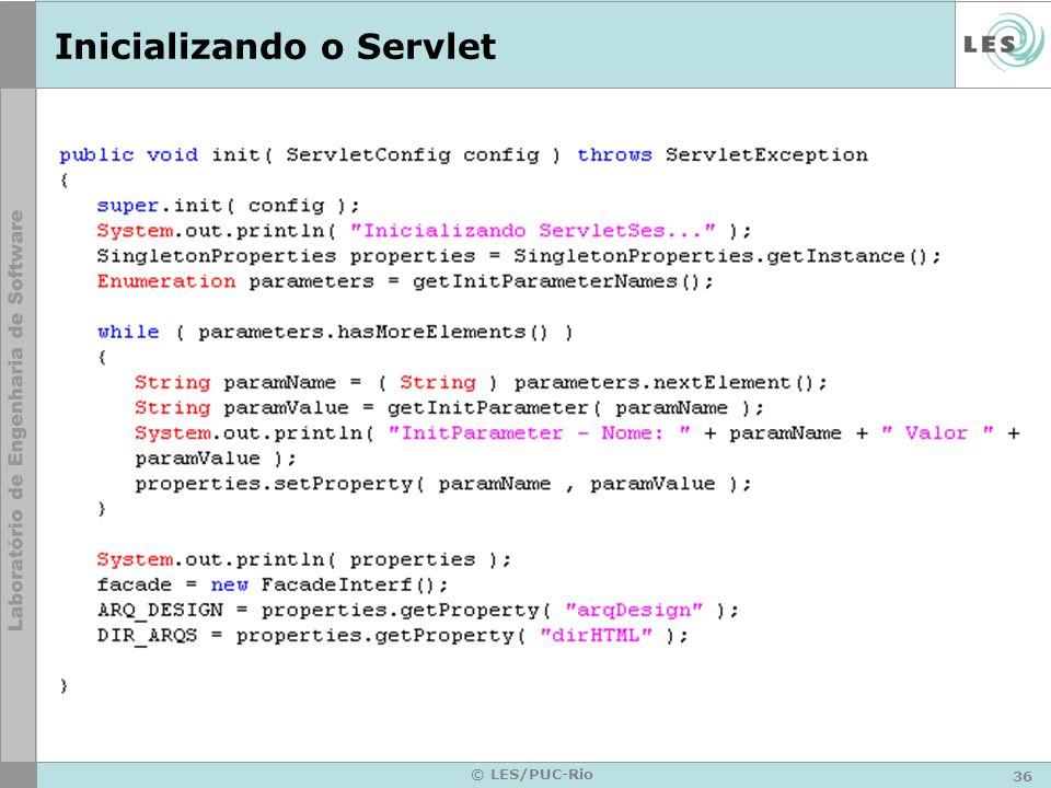 Inicializando o Servlet