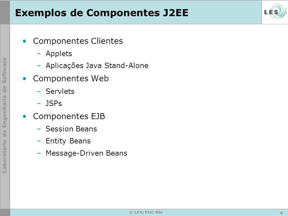 Exemplos de Componentes J2EE