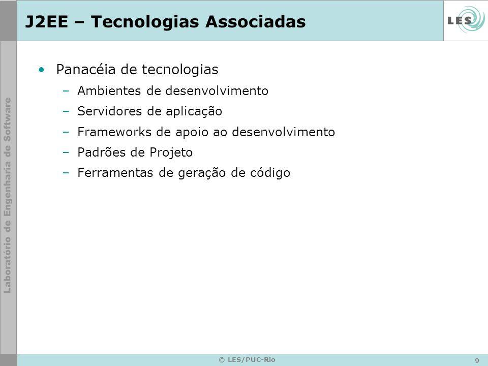 J2EE – Tecnologias Associadas