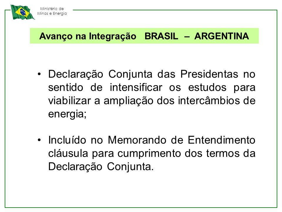 Avanço na Integração BRASIL – ARGENTINA