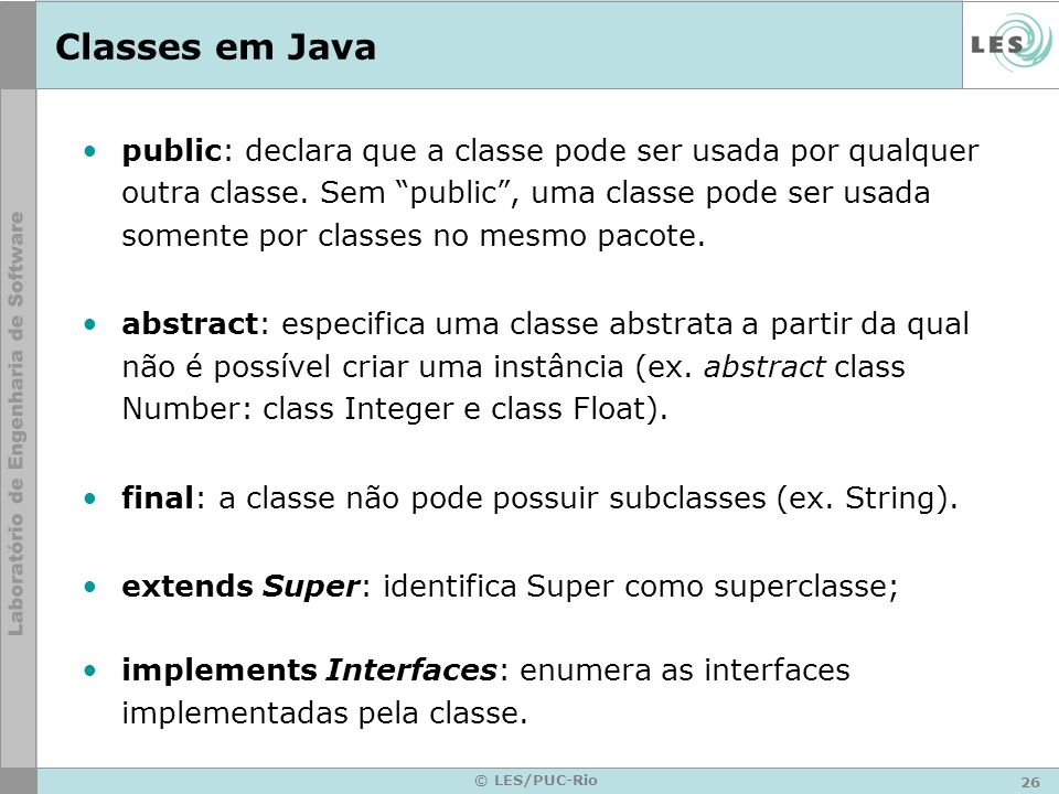Classes em Java