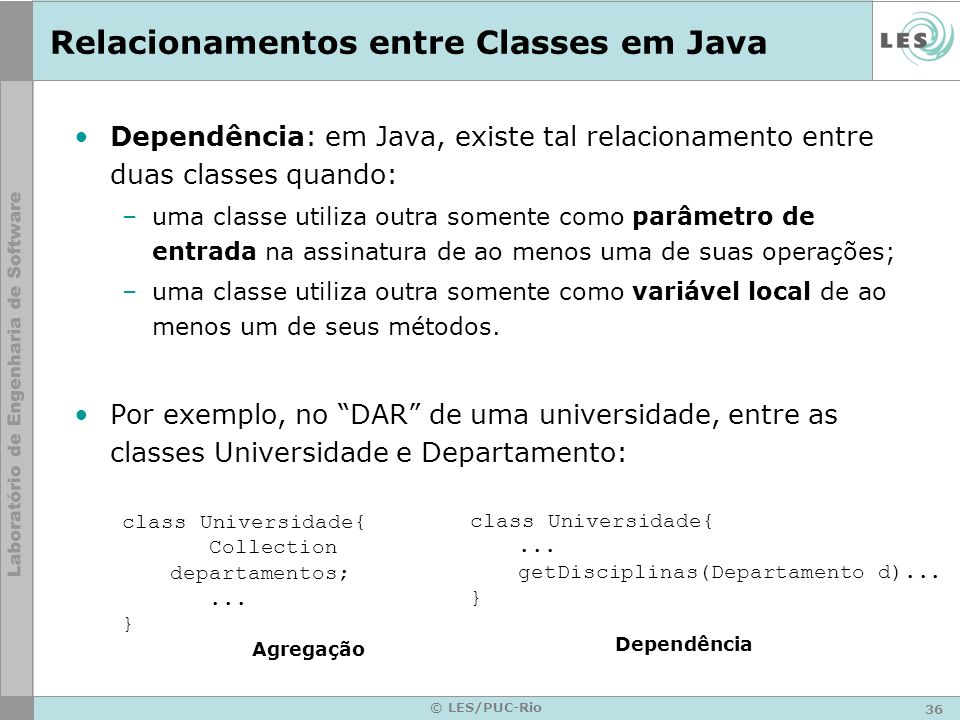 Relacionamentos entre Classes em Java