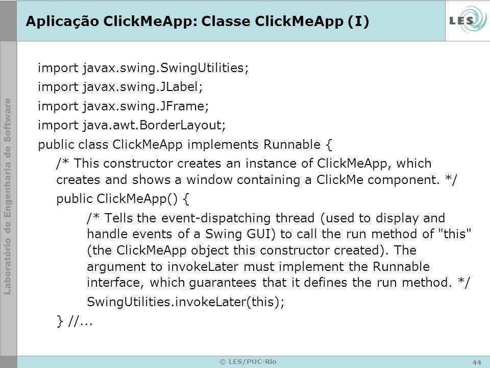 Aplicação ClickMeApp: Classe ClickMeApp (I)