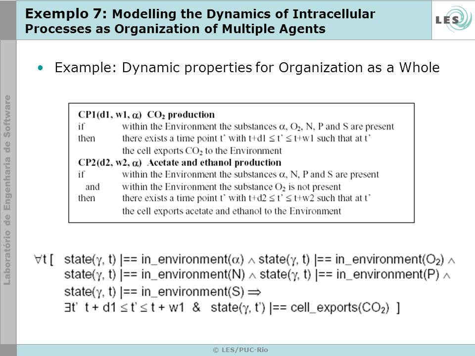 Example: Dynamic properties for Organization as a Whole