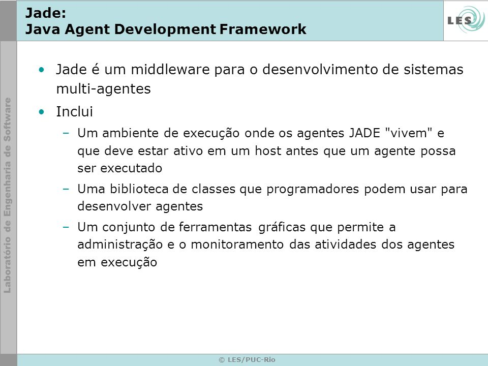 Jade: Java Agent Development Framework