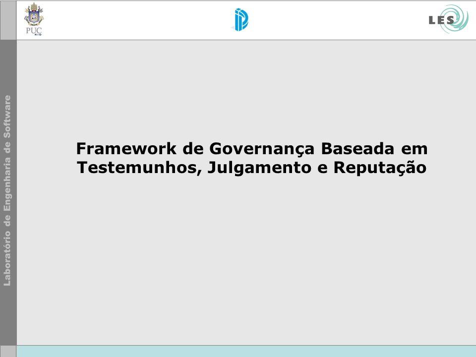 Framework de Governança Baseada em Testemunhos, Julgamento e Reputação