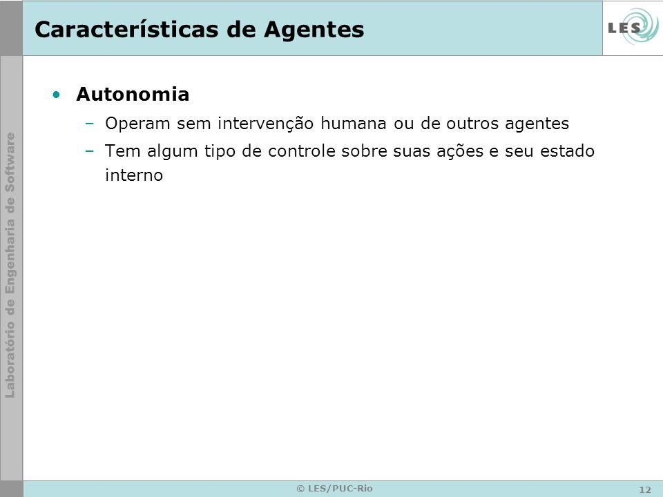 Características de Agentes