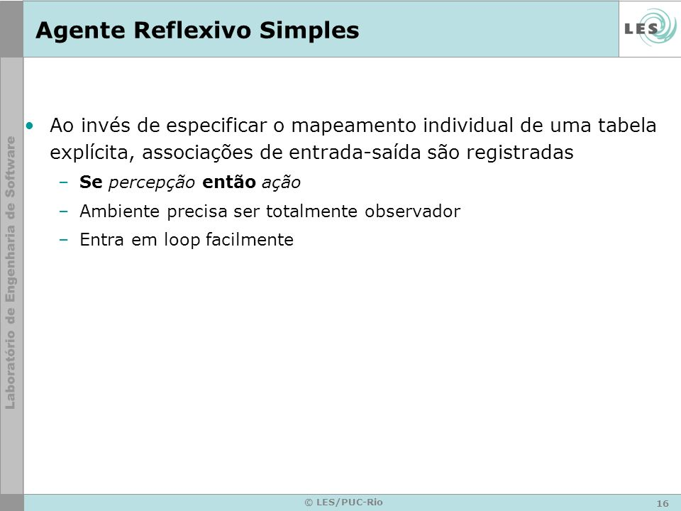 Agente Reflexivo Simples