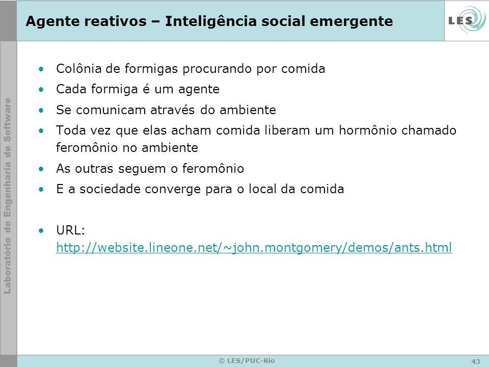 Agente reativos – Inteligência social emergente