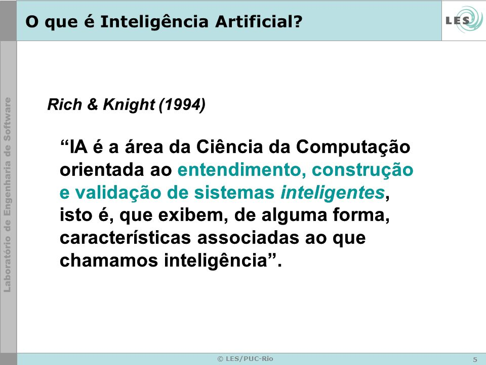 O que é Inteligência Artificial