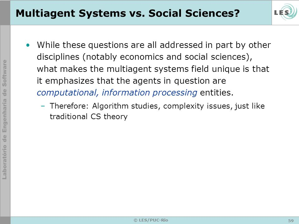 Multiagent Systems vs. Social Sciences