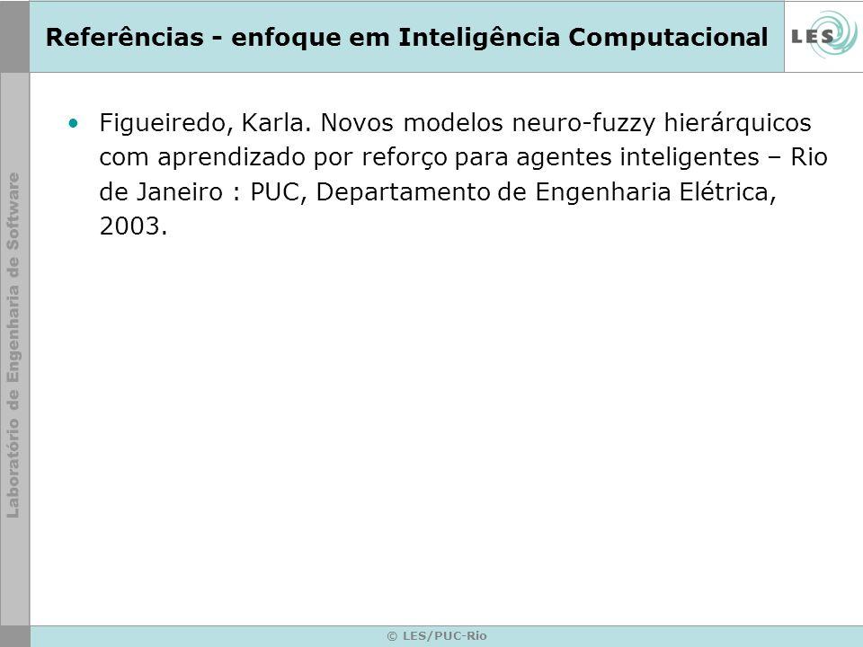 Referências - enfoque em Inteligência Computacional