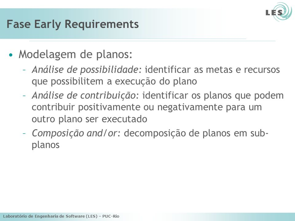 Fase Early Requirements