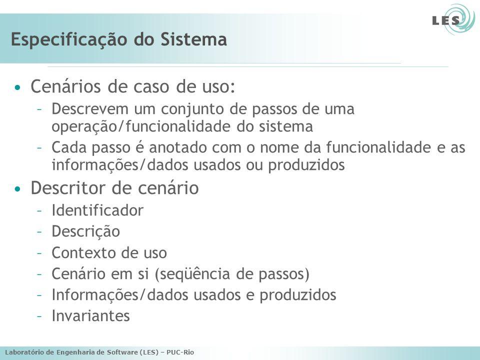 Especificação do Sistema