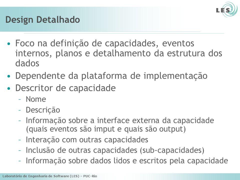 Dependente da plataforma de implementação Descritor de capacidade