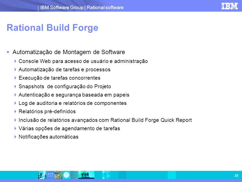 Rational Build Forge Automatização de Montagem de Software