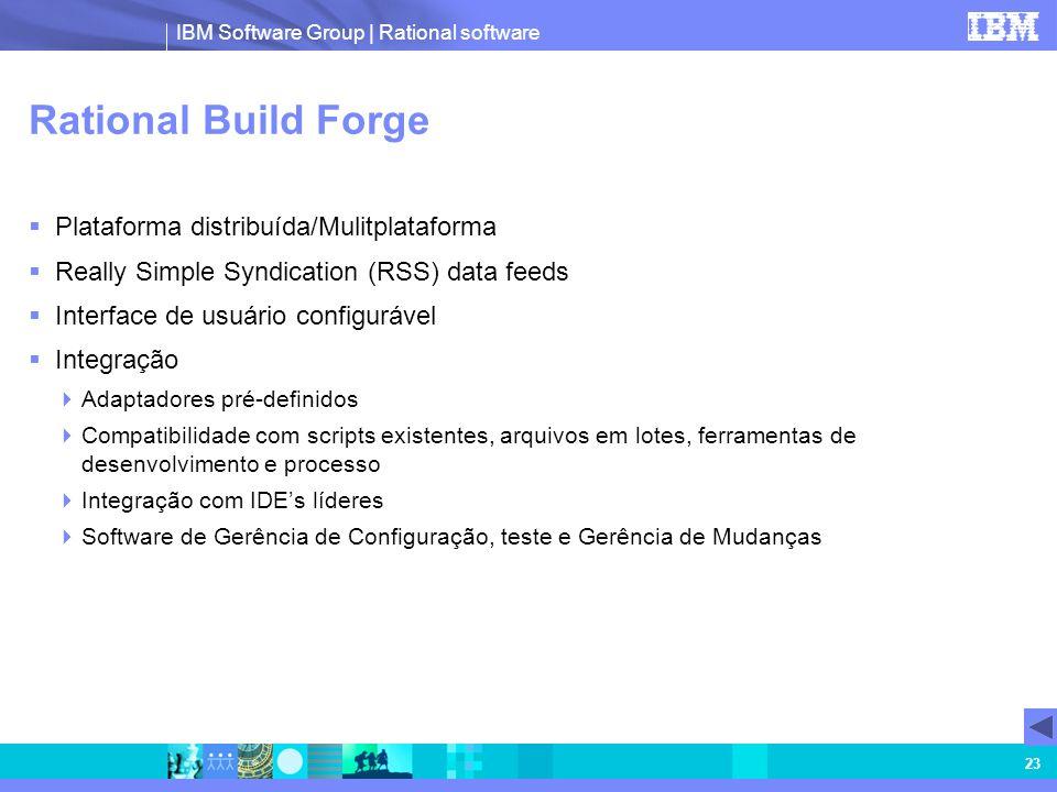 Rational Build Forge Plataforma distribuída/Mulitplataforma