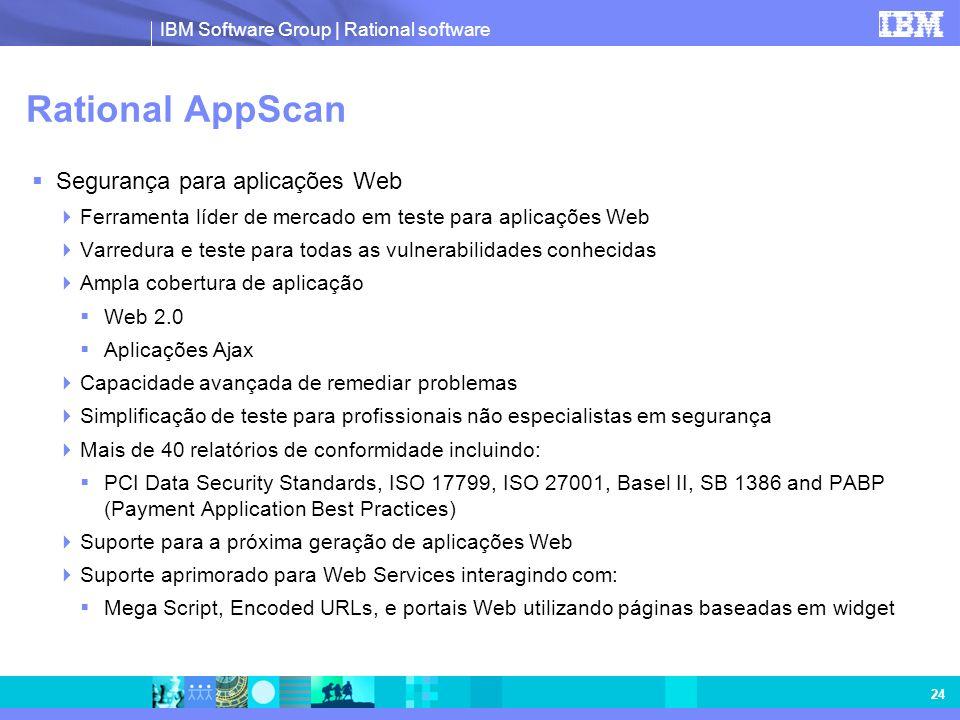 Rational AppScan Segurança para aplicações Web