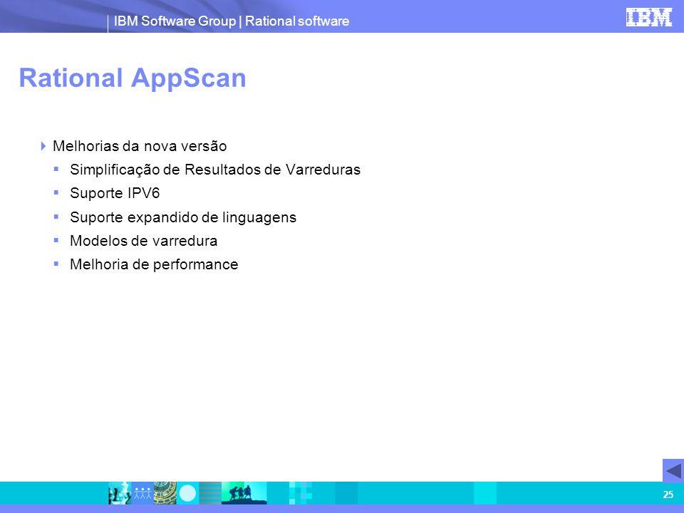 Rational AppScan Melhorias da nova versão