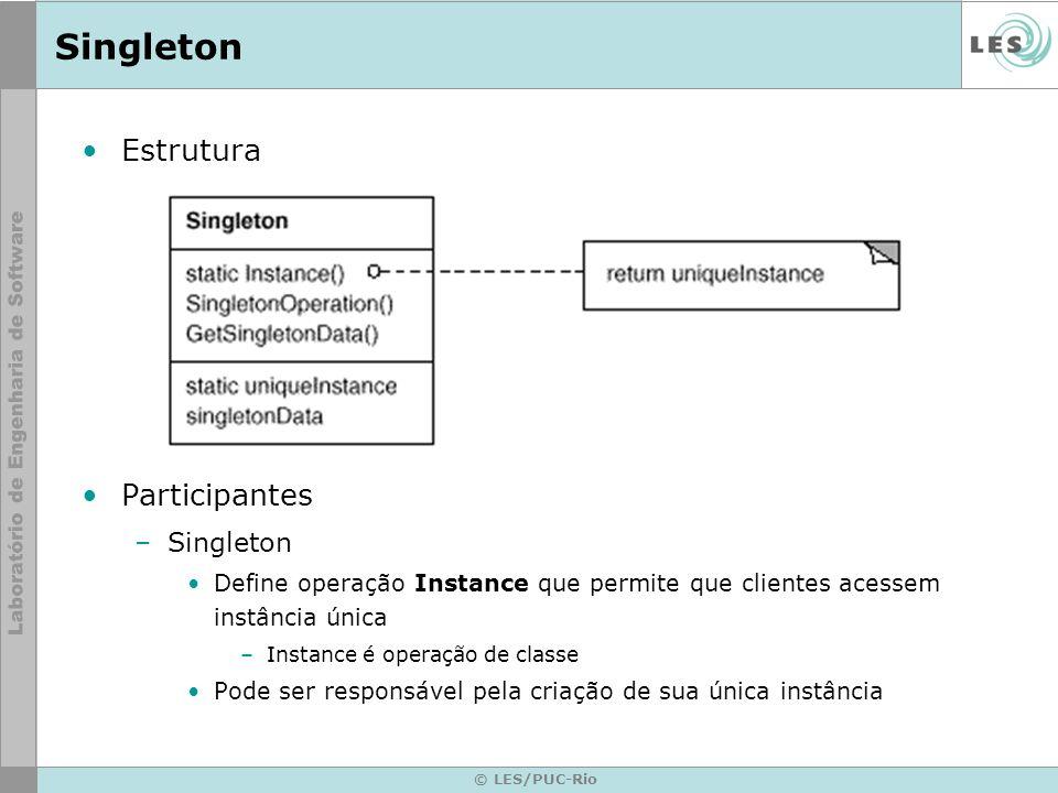 Singleton Estrutura Participantes Singleton