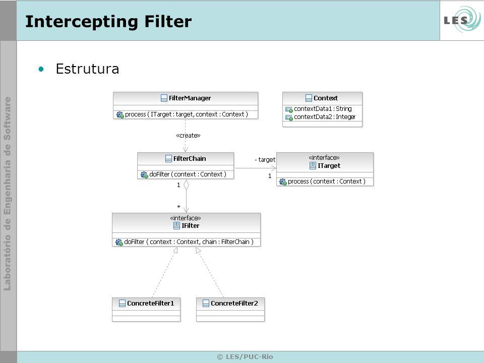Intercepting Filter Estrutura © LES/PUC-Rio