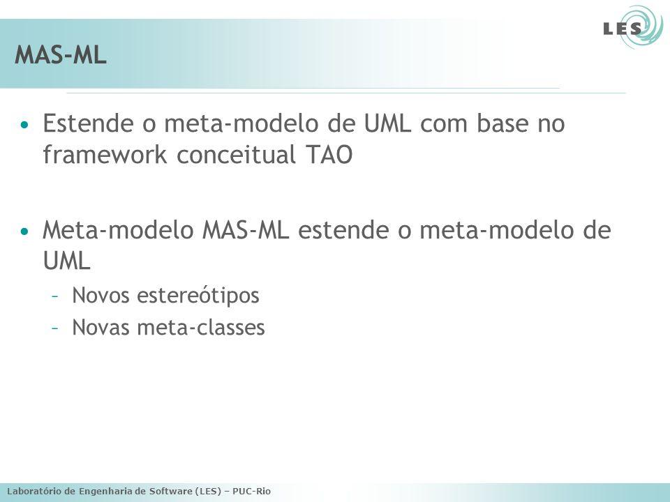 Estende o meta-modelo de UML com base no framework conceitual TAO