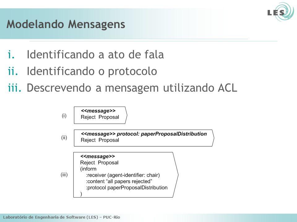 Identificando a ato de fala Identificando o protocolo