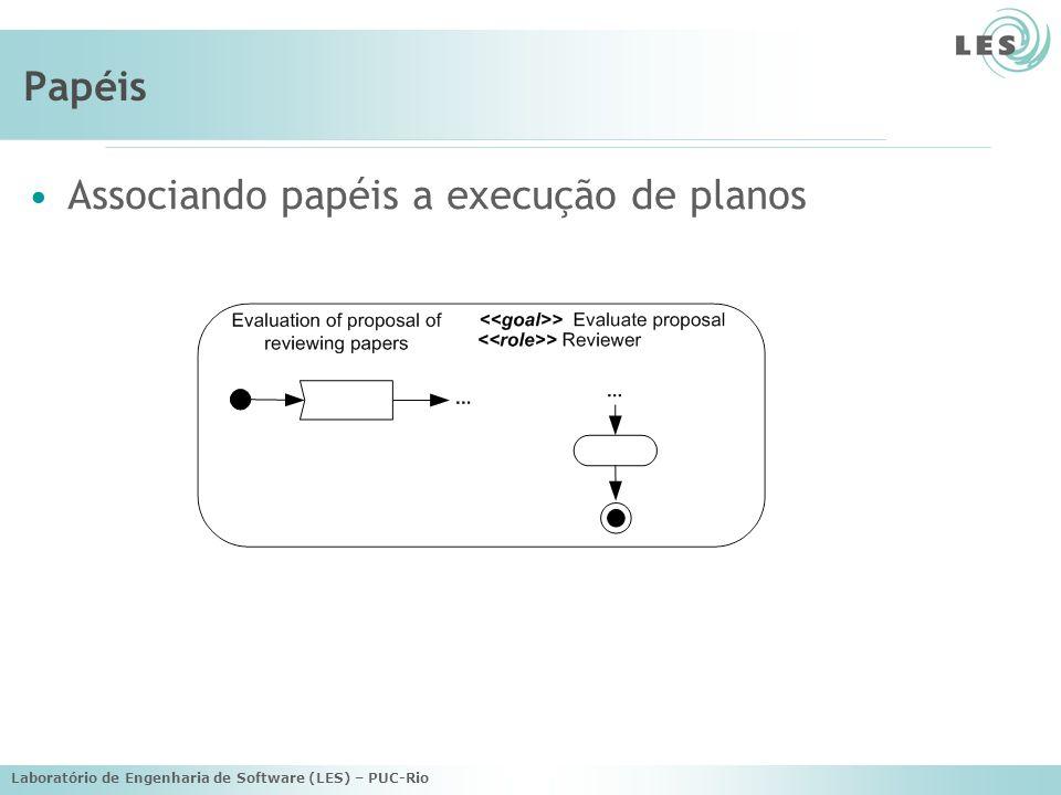 Associando papéis a execução de planos