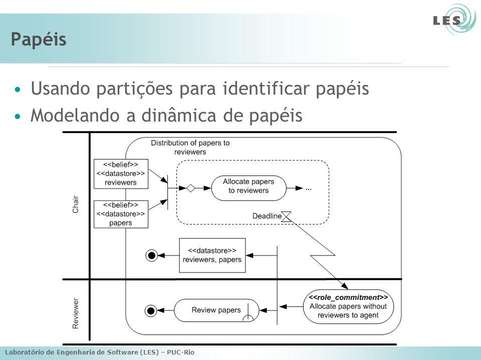 Usando partições para identificar papéis