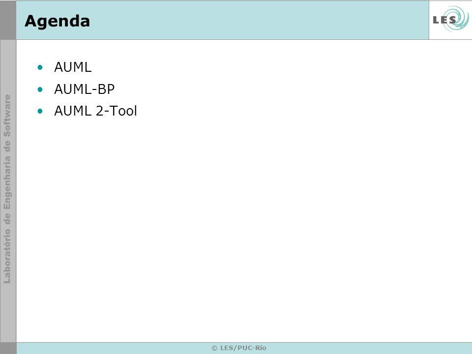 Agenda AUML AUML-BP AUML 2-Tool © LES/PUC-Rio