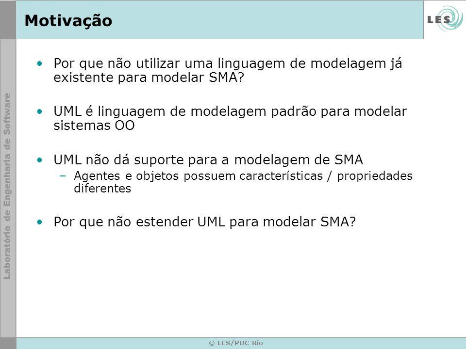 Motivação Por que não utilizar uma linguagem de modelagem já existente para modelar SMA