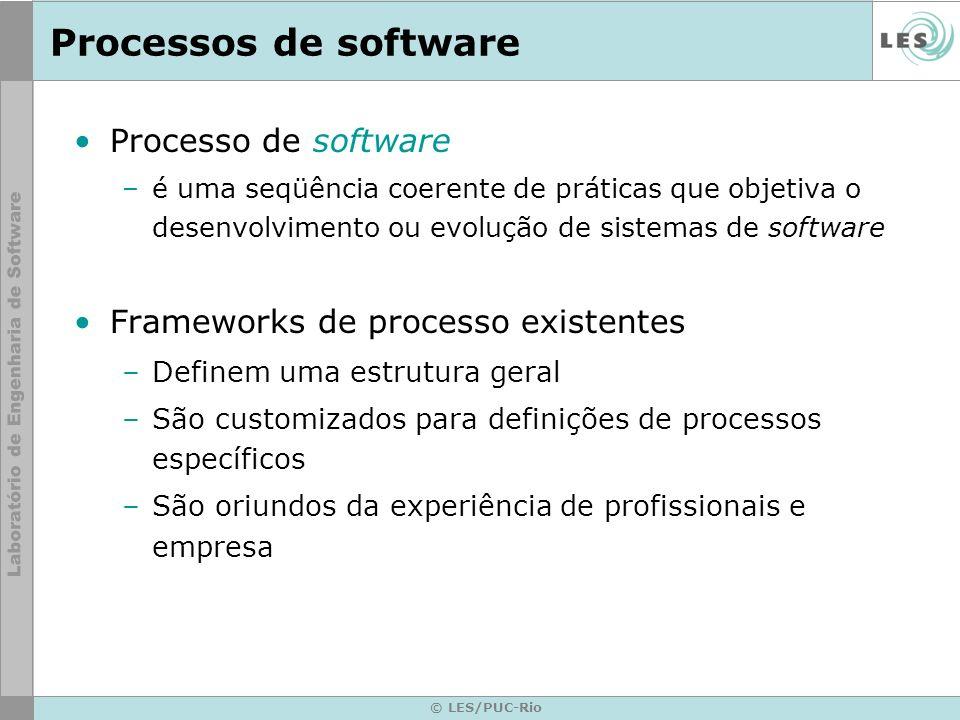 Processos de software Processo de software