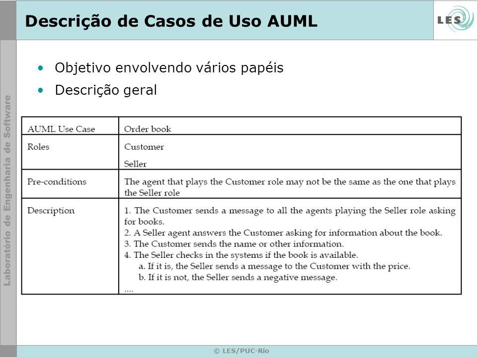 Descrição de Casos de Uso AUML