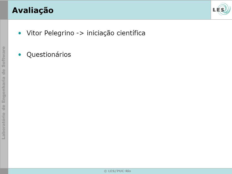 Avaliação Vitor Pelegrino -> iniciação científica Questionários