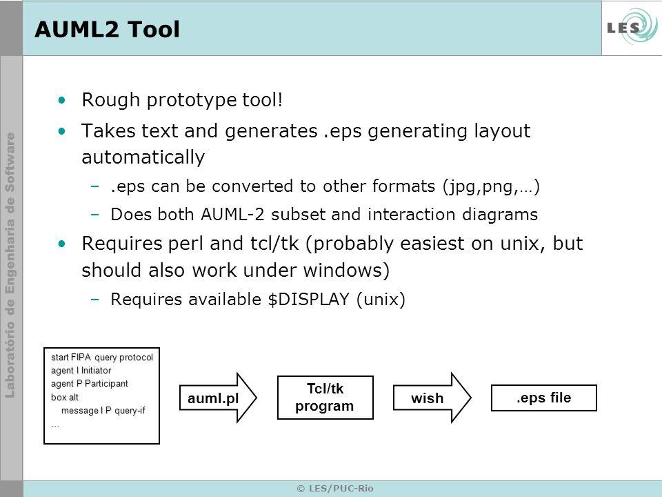 AUML2 Tool Rough prototype tool!