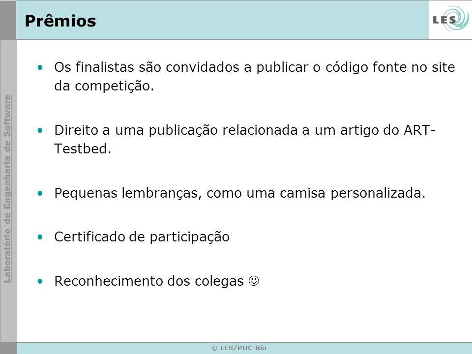 Prêmios Os finalistas são convidados a publicar o código fonte no site da competição.