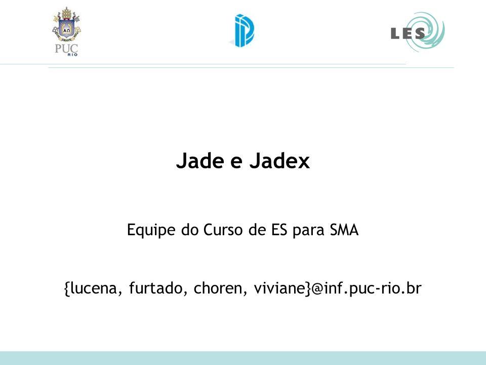 Jade e Jadex Equipe do Curso de ES para SMA