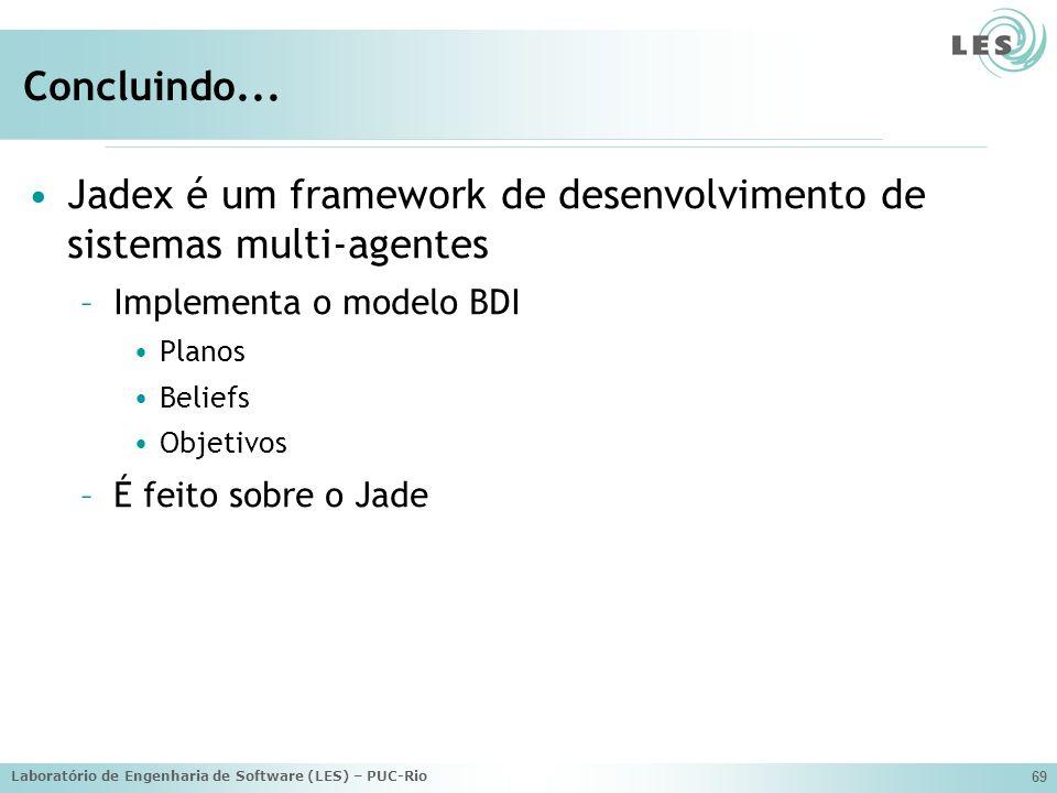 Jadex é um framework de desenvolvimento de sistemas multi-agentes
