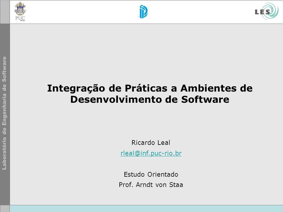 Integração de Práticas a Ambientes de Desenvolvimento de Software