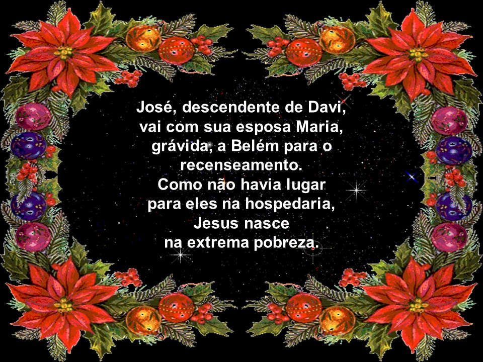 para eles na hospedaria, Jesus nasce