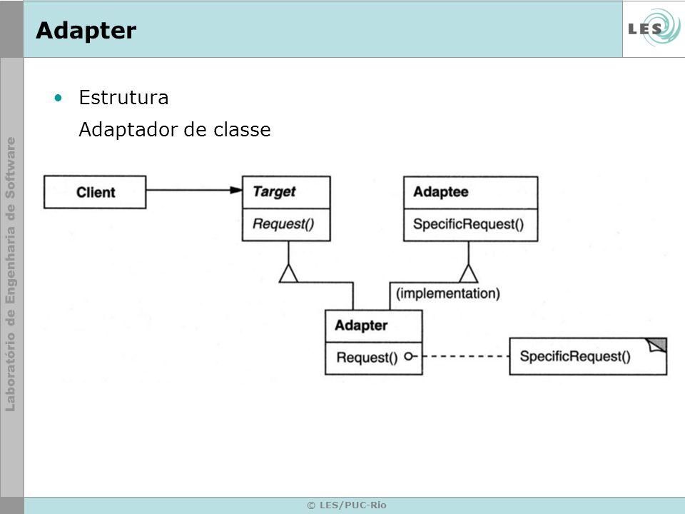 Adapter Estrutura Adaptador de classe © LES/PUC-Rio