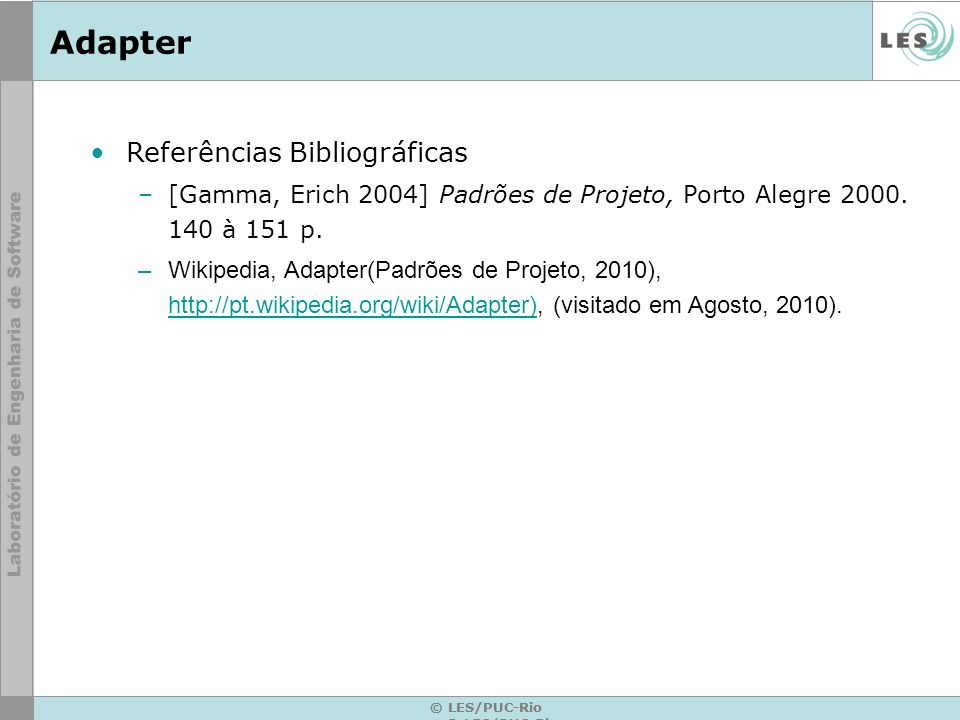 Adapter Referências Bibliográficas