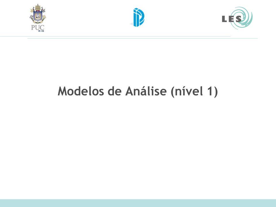 Modelos de Análise (nível 1)