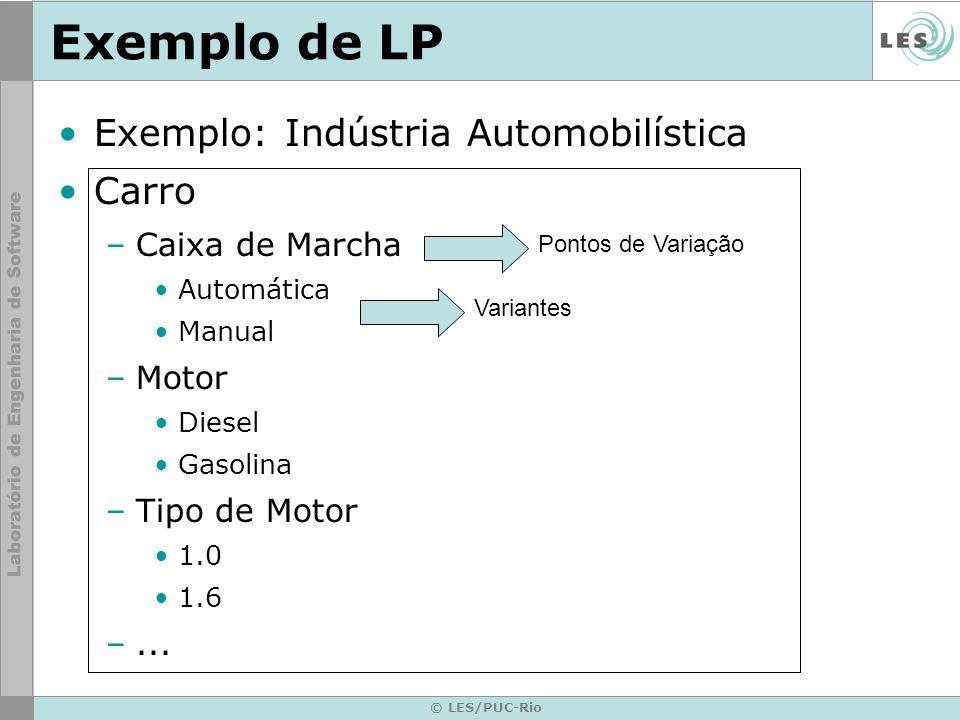 Exemplo de LP Exemplo: Indústria Automobilística Carro Caixa de Marcha