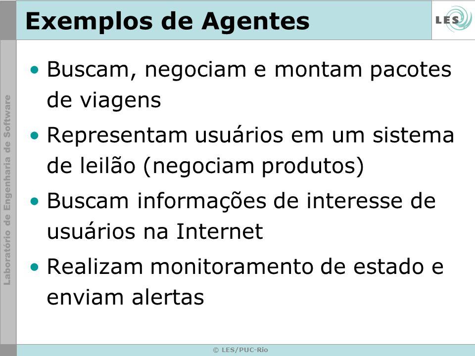 Exemplos de Agentes Buscam, negociam e montam pacotes de viagens